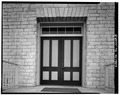 DETAIL OF DOORWAY, WEST ELEVATION - Carrington-Covert House, 1511 Colorado Street, Austin, Travis County, TX HABS TEX,227-AUST,18-8.tif