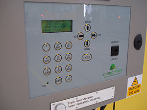 Depot Personnel Protection System - DPS Operator control panel