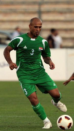 Bassim Abbas - Abbas playing for Iraq against Jordan, in an international friendly, in 2011.