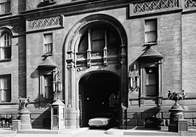 Archival photograph of the South entrance