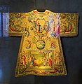 Dalmatic, with Consignment of the keys, Dying Isaiah and Ezekiel, 1593-1597, silk, gilt silver - Mass vestments of Pope Clement VIII Aldobrandini - Sala degli Indirizzi di Pio IX - Vatican Museums - DSC00680.jpg