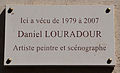 Daniel Louradour plaque - 6 rue du Val de Grâce, Paris 5.jpg