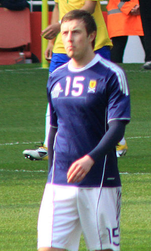 Danny Wilson (footballer, born 1991) - Wilson playing for Scotland against Brazil.