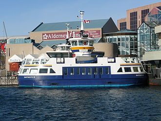 Dartmouth, Nova Scotia -  Ferry running between Halifax and Dartmouth, docked at Dartmouth Ferry Terminal.