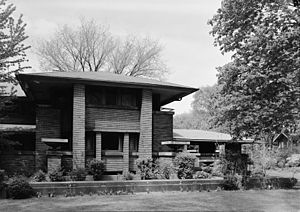 Darwin D. Martin House - Image: Darwin D. Martin House Front Elevation (South) Detail HABS NY,15 BUF,5 3