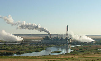 Converse County, Wyoming - Dave Johnston power plant,  a large coal-fired generating station at Glenrock, owned by PacifiCorp