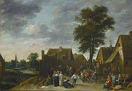 Kirmes im Wirtshaus zum Halbmond (1641) (Quelle: Wikimedia)