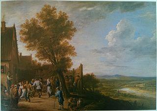 Village Dance overlooking a River