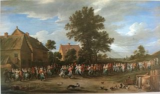 Village Dance with a Crowd
