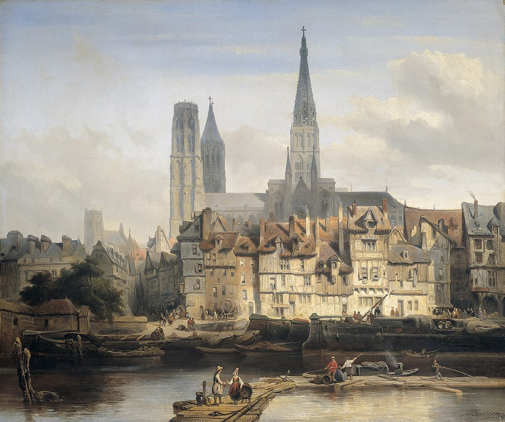 De Parijse kade in Rouen.jpg