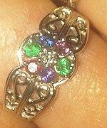 Opal Diamond Engagement Rings