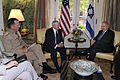 Defense.gov News Photo 100707-F-6655M-001 - Chairman of the Joint Chiefs of Staff Adm. Mike Mullen and Secretary of Defense Robert M. Gates meet with Israeli Prime Minister Benjamin Netanyahu.jpg