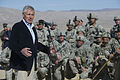 Defense Secretary Chuck Hagel addresses soldiers at the National Training Center on Fort Irwin, Calif 141116-D-AF077-295.jpg