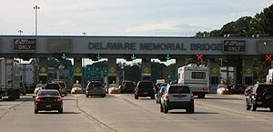 Delaware Memorial Bridge - Delaware Memorial Bridge toll plaza