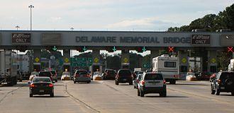 Delaware Memorial Bridge - Delaware Memorial Bridge toll plaza