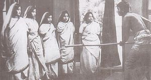 Cinema of West Bengal - A scene from Dena Paona, 1931, the first Bengali talkie