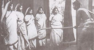 Cinema of India - A scene from Dena Paona, 1931, the first Bengali talkie