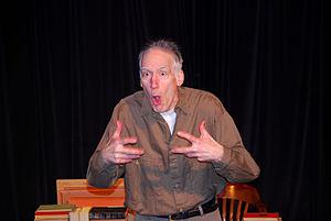 """Drew Denbaum - Drew Denbaum as Wilhelm Reich in """"The Last of Wilhelm Reich"""" at Theatre Artists Workshop (Norwalk, CT), 2014"""