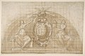 Design for a Lunette Decoration- Coat of Arms Flanked by Seated Allegorical Figures (recto and verso) MET DP811481.jpg