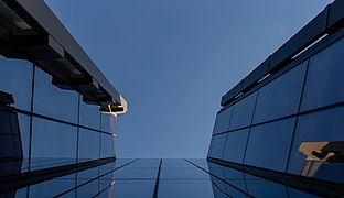 Detail of the building at the corner of Armagh St and Durham Street North, Christchurch, New Zealand 05.jpg