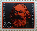 Deutsche Bundespost, Karl Marx Briefmarke.jpg