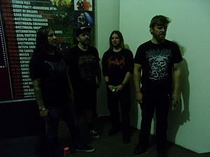 Devourment - Devourment in their 2016 lineup. From left to right: Ruben Rosas, Brad Fincher, Dave Spencer, Chris Andrews.