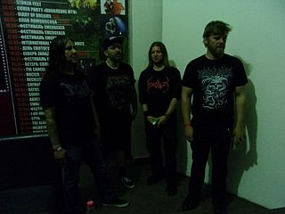 Devourment death metal band from Dallas, Texas, United States