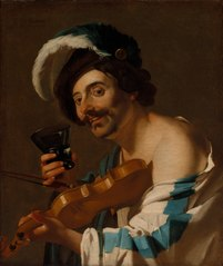 Violin Player with a Wine Glass