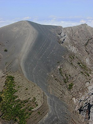 Irazú Volcano - A detail of the crater edge