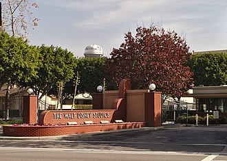 Walt Disney Studios (Burbank) - The entrance gate to Walt Disney Studios at 500 South Buena Vista Street in Burbank, California.