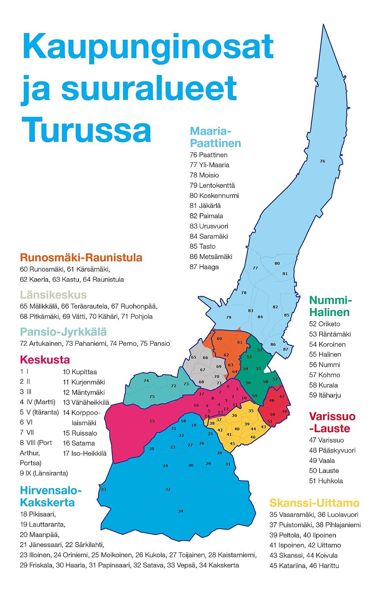 Turku Asuinalueet