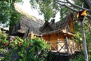 Walt Disney's Enchanted Tiki Room - Back exterior of building at Disneyland