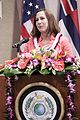 DoD official, Kelly Magsamen, honors Center for regional peacebuilding 151006-D-XE778-002.jpg
