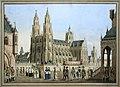 Domenico Quaglio (attr) Kathedrale mit Prozession.jpg