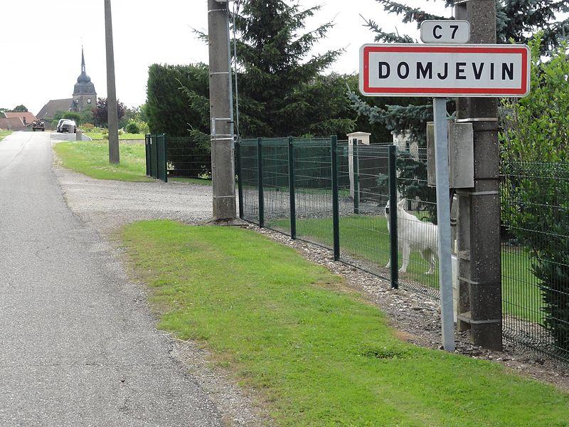 Domjevin (M-et-M) city limit sign