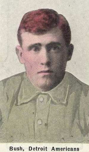 Donie Bush - 1911 M116 Sporting Life baseball card of Bush.