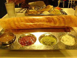 Masala dosa - Image: Dosai Chutney Hotel Saravana Bhavan