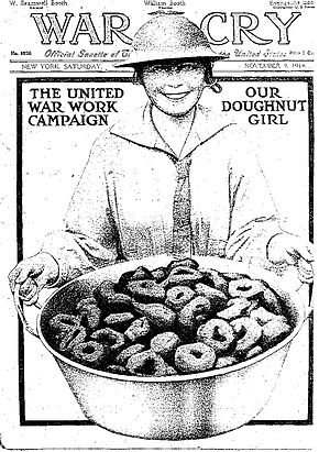 National Doughnut Day - Doughnut Dollies were women volunteers of the Salvation Army, who traveled to France in 1918 to support US soldiers