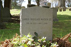 Douglass Watson - The grave of Douglass Watson