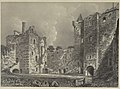 Doune Castle Court Yard (1852) (14595370130).jpg