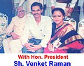 Dr.Sharma Couple with Ex.Hon. President of INDIA, Shri Venkat Raman.jpg