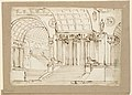Drawing, Stage Design, Antique Building wiht Vaults, early 19th century (CH 18542445).jpg