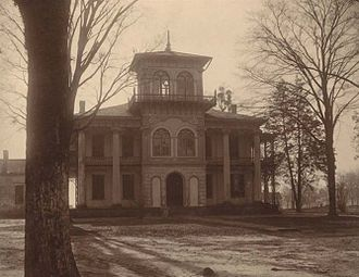 Dr. John R. Drish House - The Drish House in 1911, while still intact.