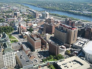 View of downtown Albany, New York, United Stat...