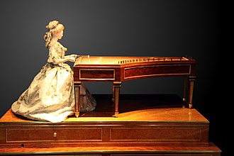 Peter Kinzing - Automaton of a dulcimer player made by Kinzing in 1784, on display at Conservatoire national des arts et métiers.