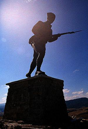 Battle of Dumlupınar - Statue on top of the hill at the memorial for the Battle of Dumlupınar.
