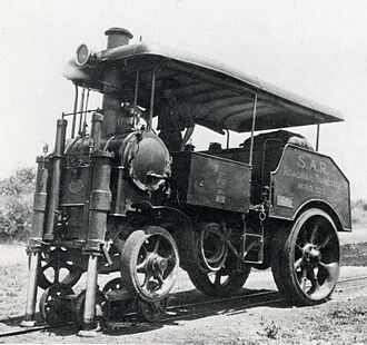 4-2-0 - Dutton road-rail tractor, a modified Yorkshire steam tractor, c. 1924