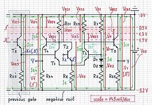 Emitter-coupled logic - Image: ECL logical 0 1000