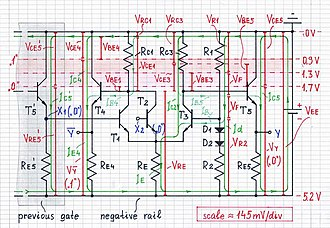 Emitter-coupled logic - Image: ECL logical 0 1000