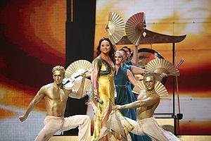 Malta in the Eurovision Song Contest - Image: ESC 2007 Malta Olivia Lewis Vertigo
